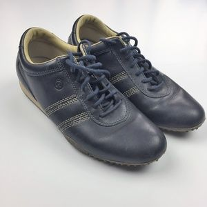 Rockport Womens Navy Leather Lace Up Walking Shoe